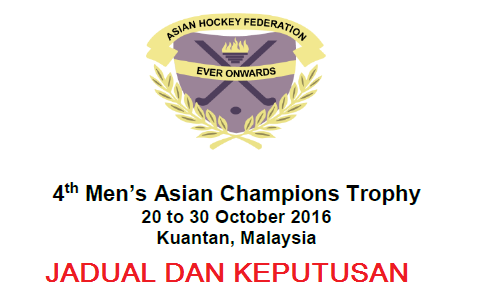 Keputusan Hoki Trofi Juara-Juara Asia 2016